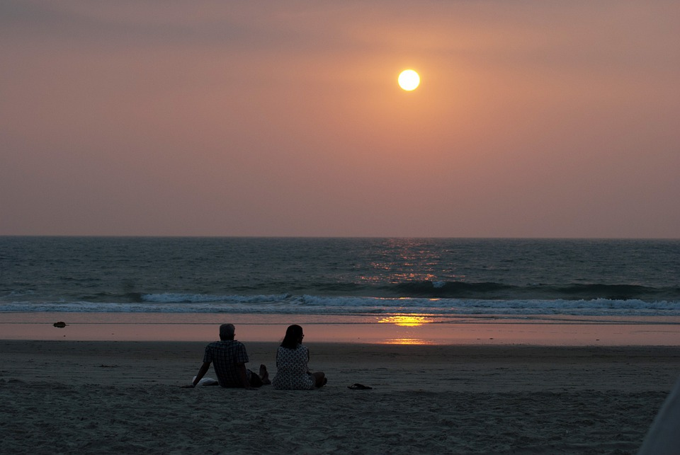 Couple, Beach, South, Goa, Sunset, Valentine, Lovers