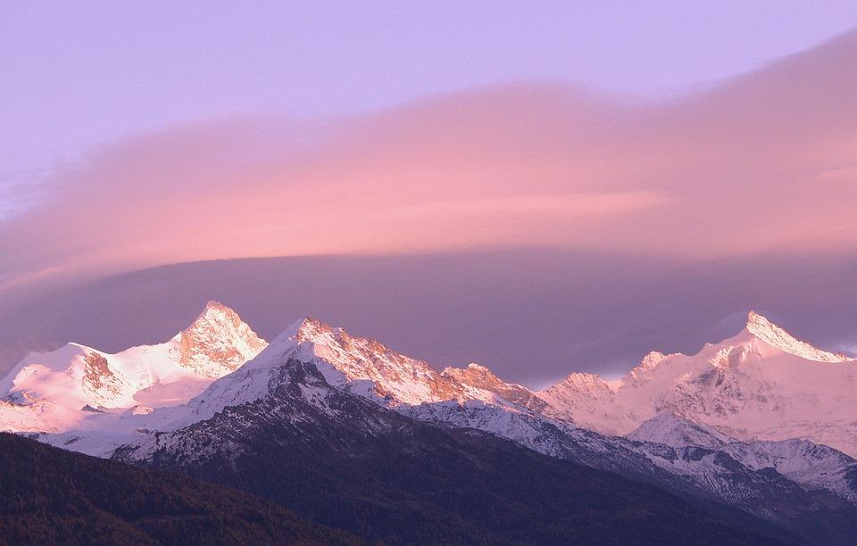 スイス, アルプス山脈, 山, 風景, 旅行, 高山, 屋外, 休暇, ビュー, ピーク, 氷, 高, 観光
