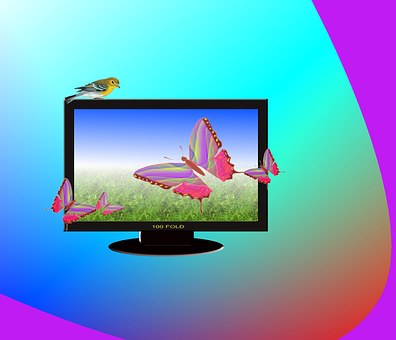 Television, Lcd, Abstract, Screen