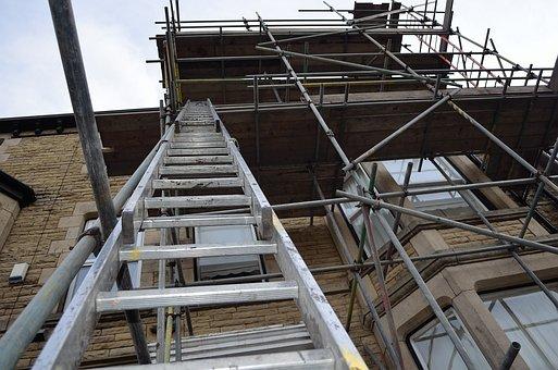 Ladder Scaffolding Architecture Constructi