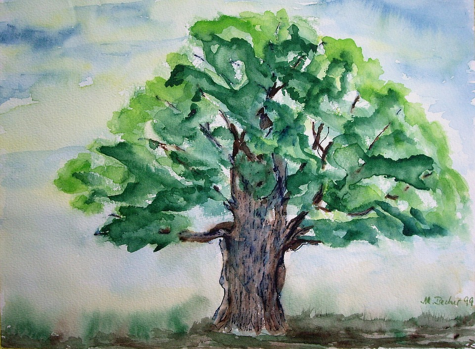 Gemälde Baum
