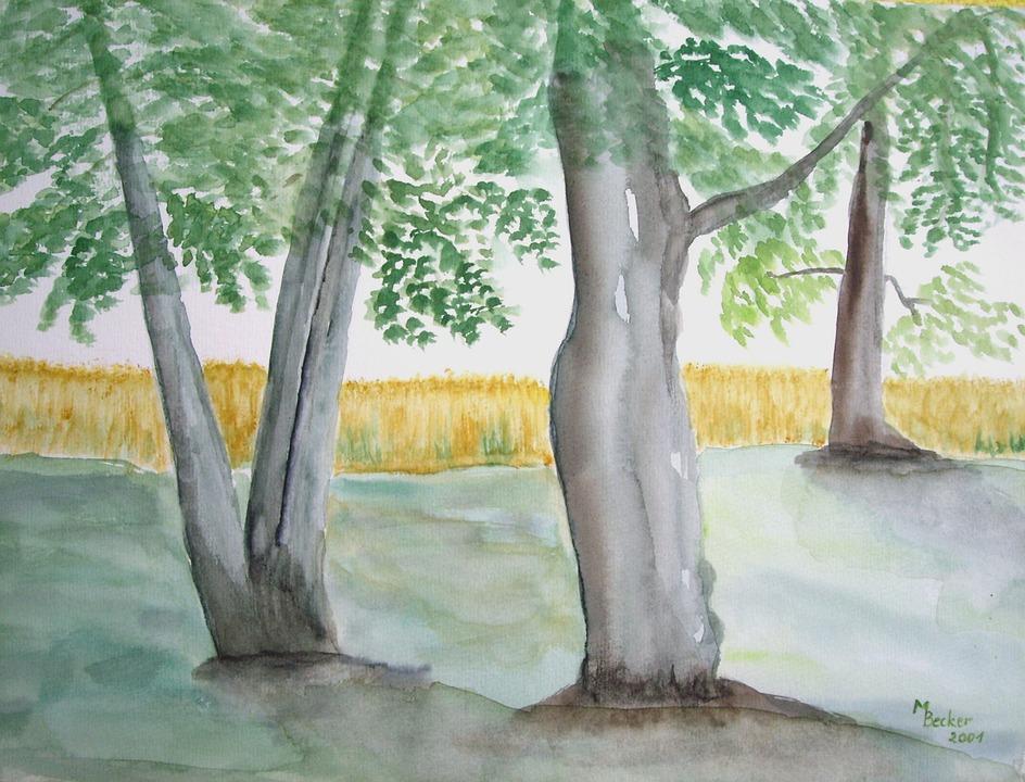 Pohon Hutan Lukisan Gambar Gratis Di Pixabay