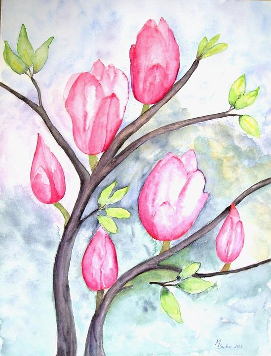 malerier af blomster