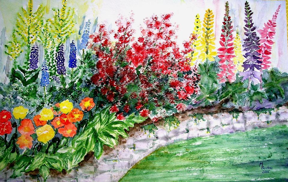 Bunga Dinding Taman Gambar Gratis Di Pixabay