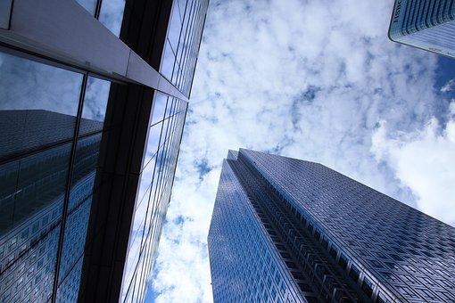 要約, アーキテクチャ, 青, 建物, ビジネス, 市, 建設, 企業, 不動産