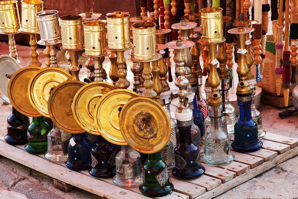Arabische, Arabisch, Bunte, Glas, Gold, Shisha, Metall