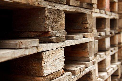 palette de transport en bois