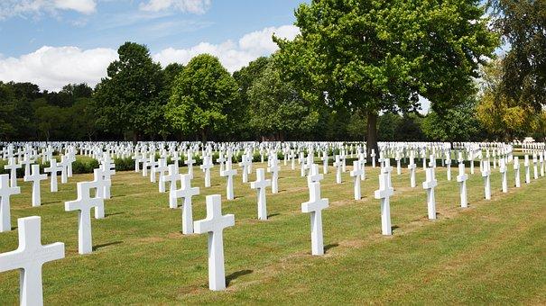 Americké, Armáda, Hřbitov, Kříž, Mrtví