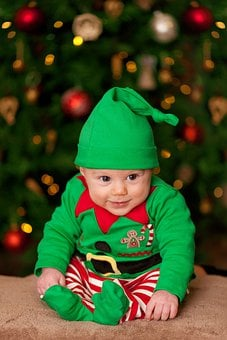 Baby, Christmas, Costume, Elf Costume