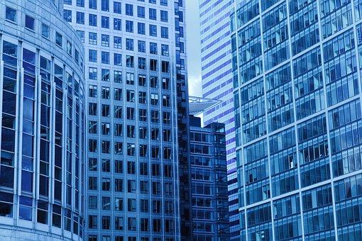Architecture, Blue, Building, Business