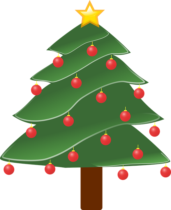 Free Vector Graphic Christmas Tree Plant Decorated Free Image  - Plant Christmas Trees