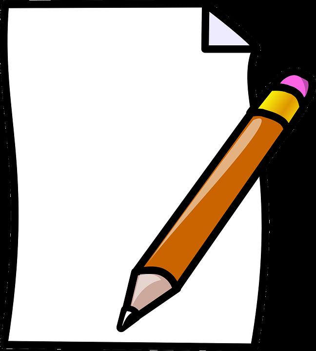 Image result for obrázek tužky a papíru