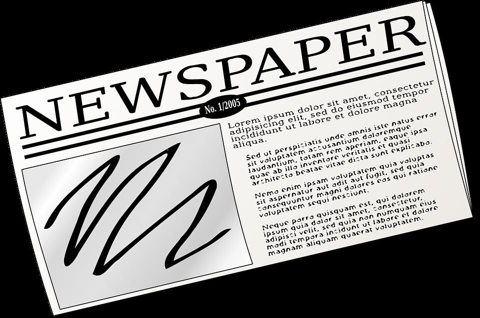 PAgina di un quotidiano