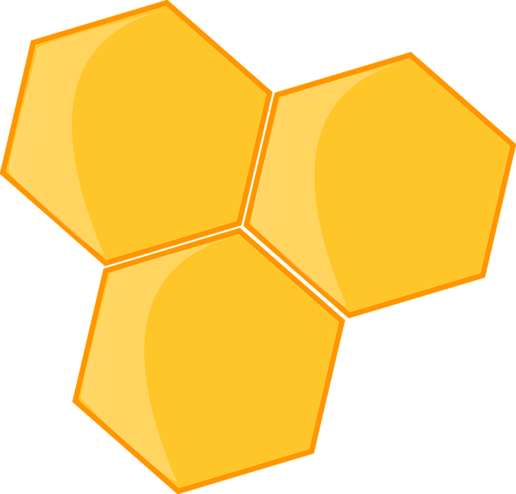 hexagon hive beehive 183 free vector graphic on pixabay