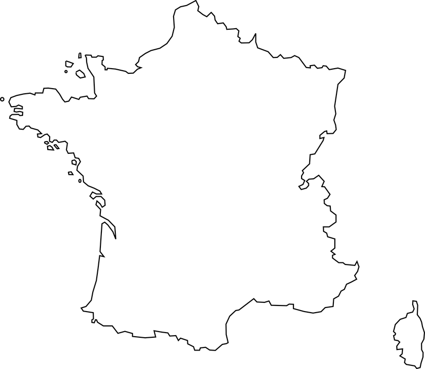 carte de france png
