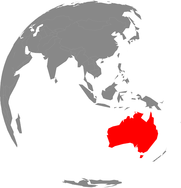 Australia On The World Map.Australia Map Continent Free Vector Graphic On Pixabay