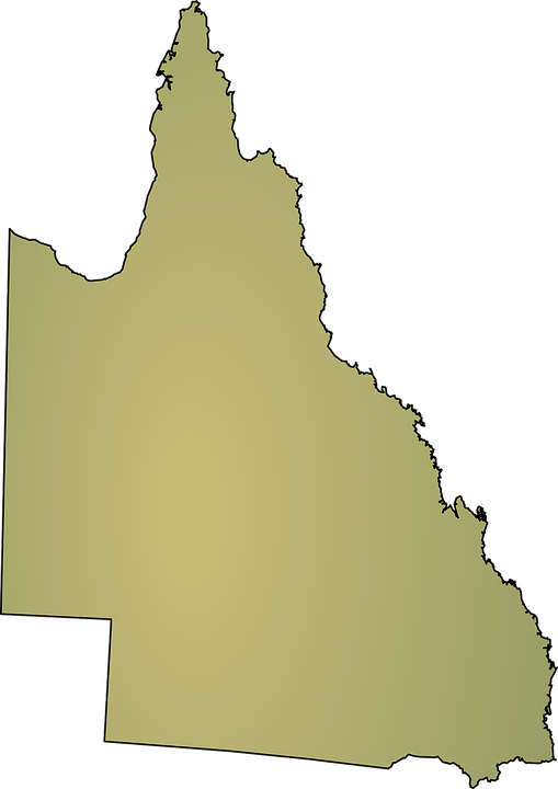 australia map queensland state geography