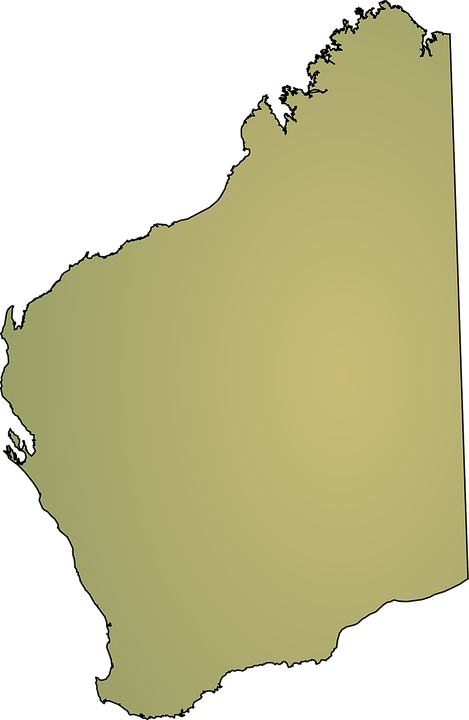 western australia map australia state