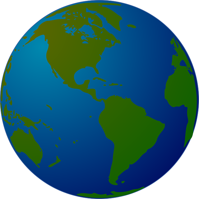 Map Of The World Globe View.Earth World Globe Free Vector Graphic On Pixabay