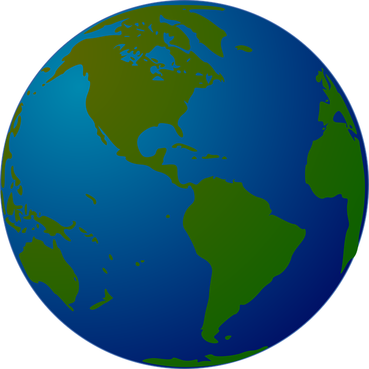 Earth world globe free vector graphic on pixabay earth world globe map planet western hemisphere gumiabroncs Image collections