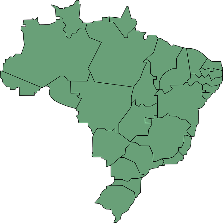 Brazil Map South America States Political Divisions