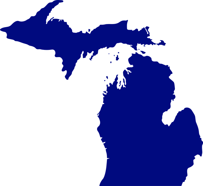 Michigan Map State Free vector graphic on Pixabay