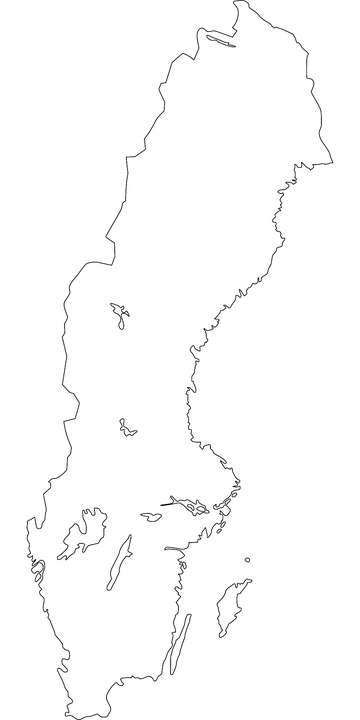 Karta Sverige Gratis.Sverige Karta Land Gratis Vektorgrafik Pa Pixabay