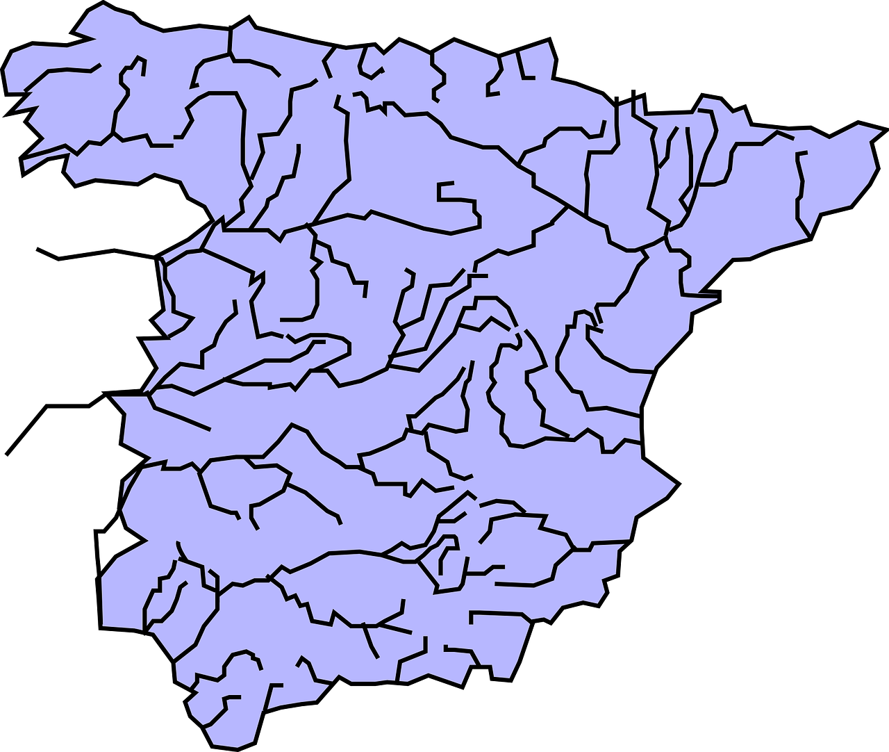 Picture of: Spain Geography Rivers Free Vector Graphic On Pixabay