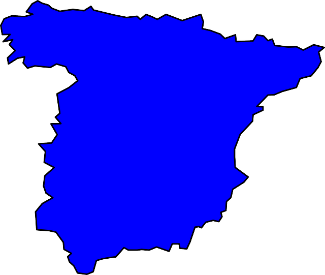 free vector graphic  spain  geography  country  map