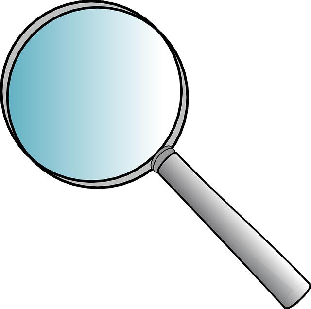 Lente di ingrandimento vetro grafica vettoriale gratuita for Disegni di uffici di garage