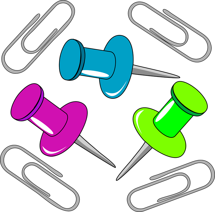 Büroklammer clipart  Kostenlose Vektorgrafik: Büroklammer, Push-Pins, Pin, Stifte ...