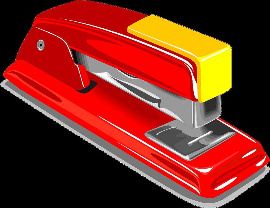 image vectorielle gratuite agrafeuse agrafe agrafage red image gratuite sur pixabay 23635. Black Bedroom Furniture Sets. Home Design Ideas