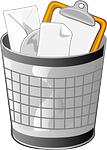 trash can, wastebasket