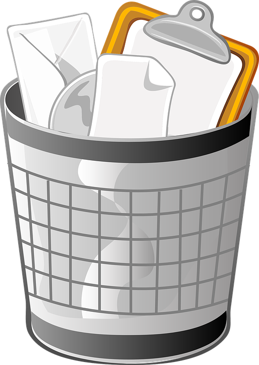Free vector graphic: Trash Can, Wastebasket, Receptical ...