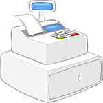 register, cash register, modern
