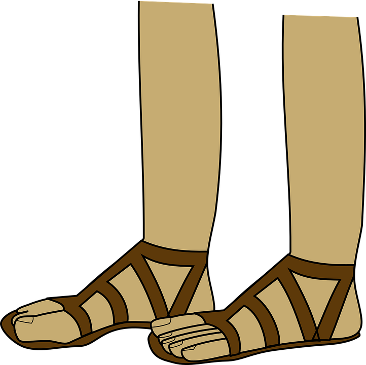 sandals feet foot free vector graphic on pixabay