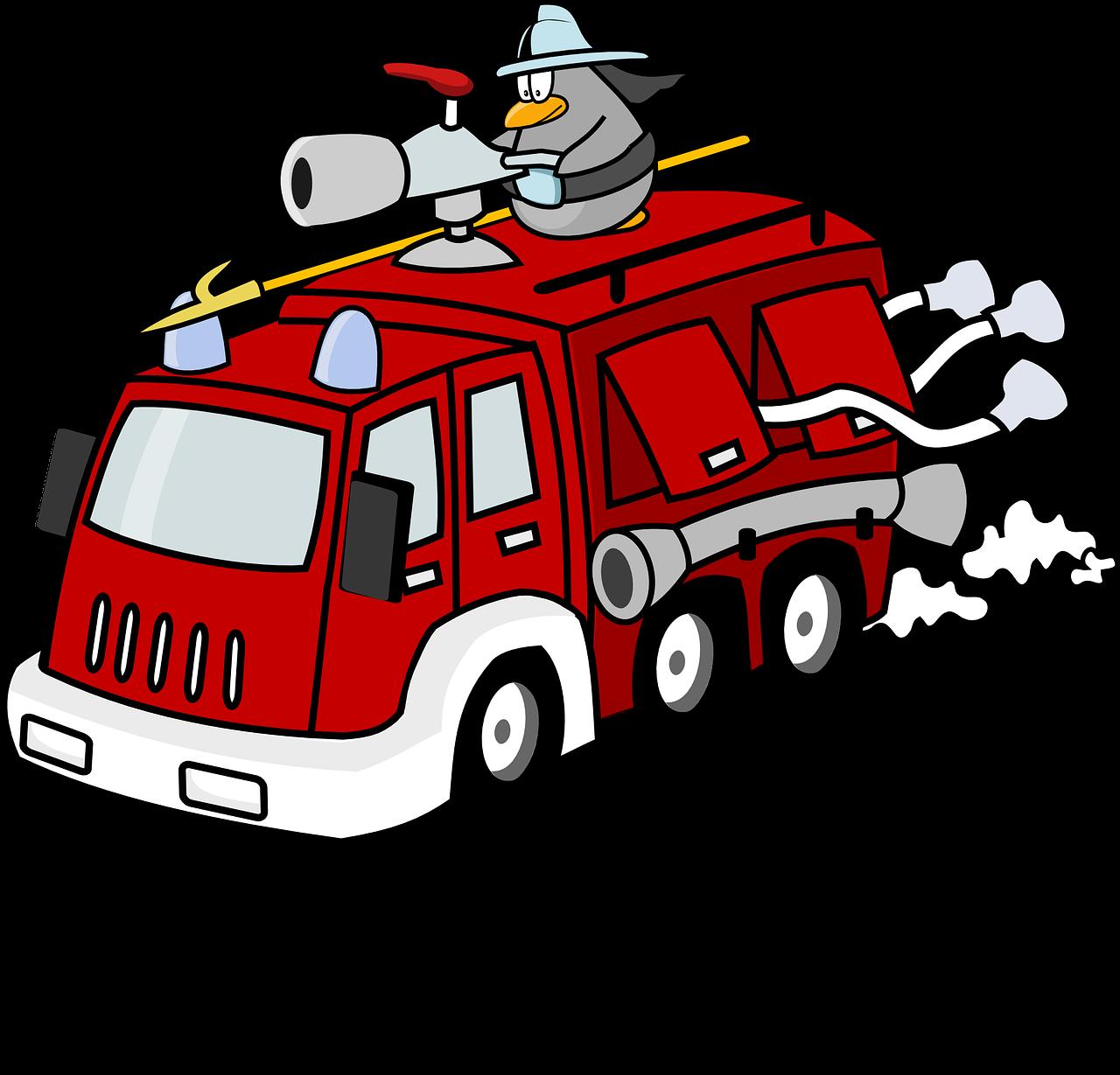 Pemadam Kebakaran Pertempuran Truk Gambar Vektor Gratis Di Pixabay