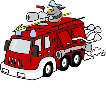 Fire Engine Fire Fighter Fighting Truck Ve