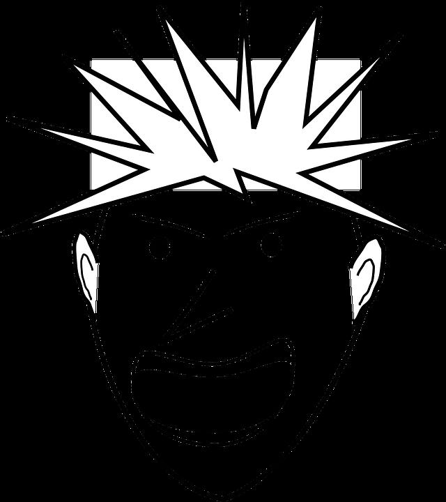 Hombre Enojado Cara La Gráficos Vectoriales Gratis En Pixabay