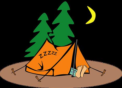 Camping Humor Tent Humorous Sleeping Loner