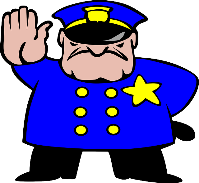Free Vector Graphic: Policeman, Officer, Stop, Cop