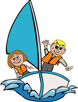 Sailboat Children Playing Kid Girl Sa