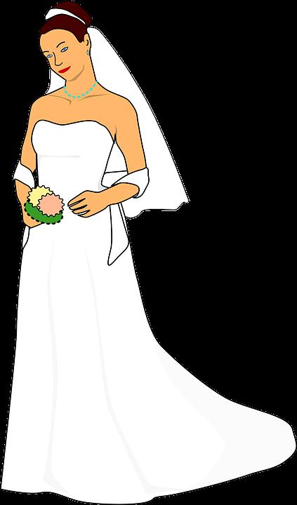 Novia De La Boda Vestido · Gráficos vectoriales gratis en Pixabay