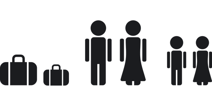 Family Travel Vacation Together Luggage Pe