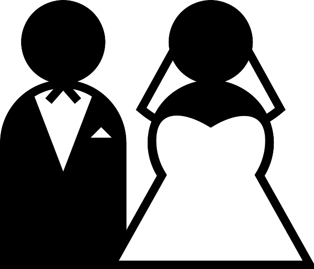Wedding Png Transparent Free Images: Wedding Couple Black And White · Free Vector Graphic On