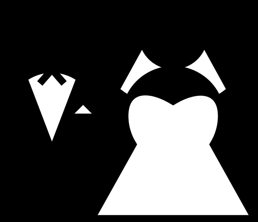 Imagem Casal Png ~ Imagem vetorial gratis Casamento, Casal, Preto E Branco Imagem gratis no Pixabay 23840