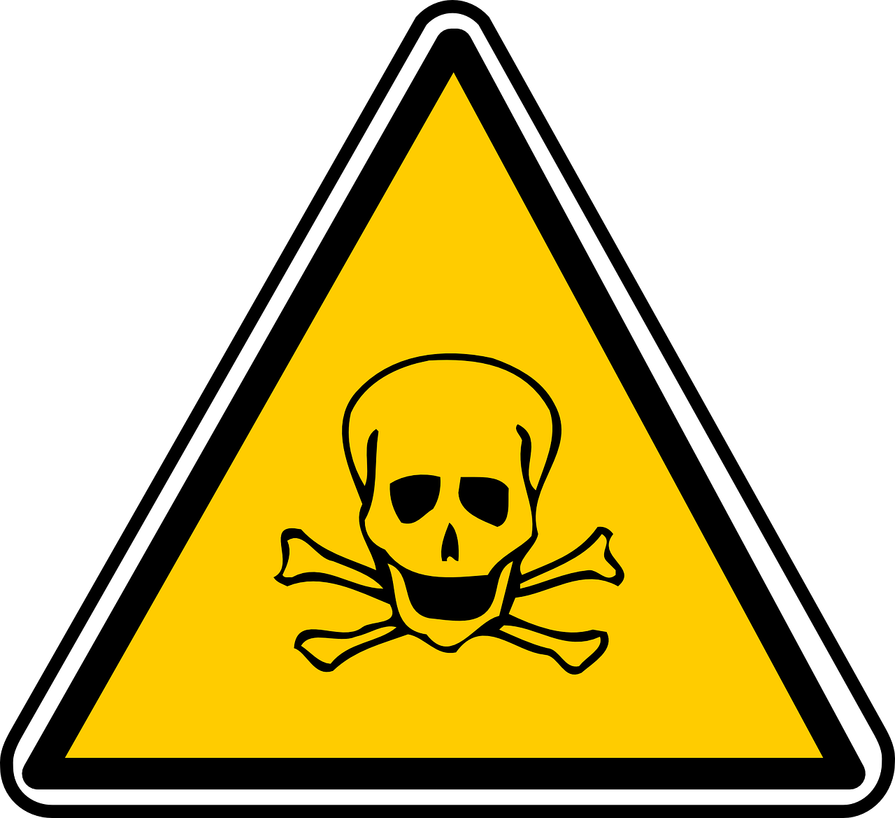 Danger, Warning, Skull And Crossbones, Sign, Dangerous