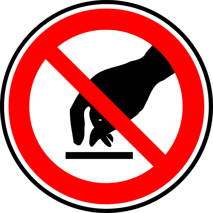 free vector graphic sign do not touch free image on