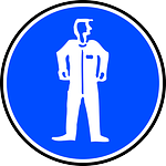 sign, protective clothing, mandatory