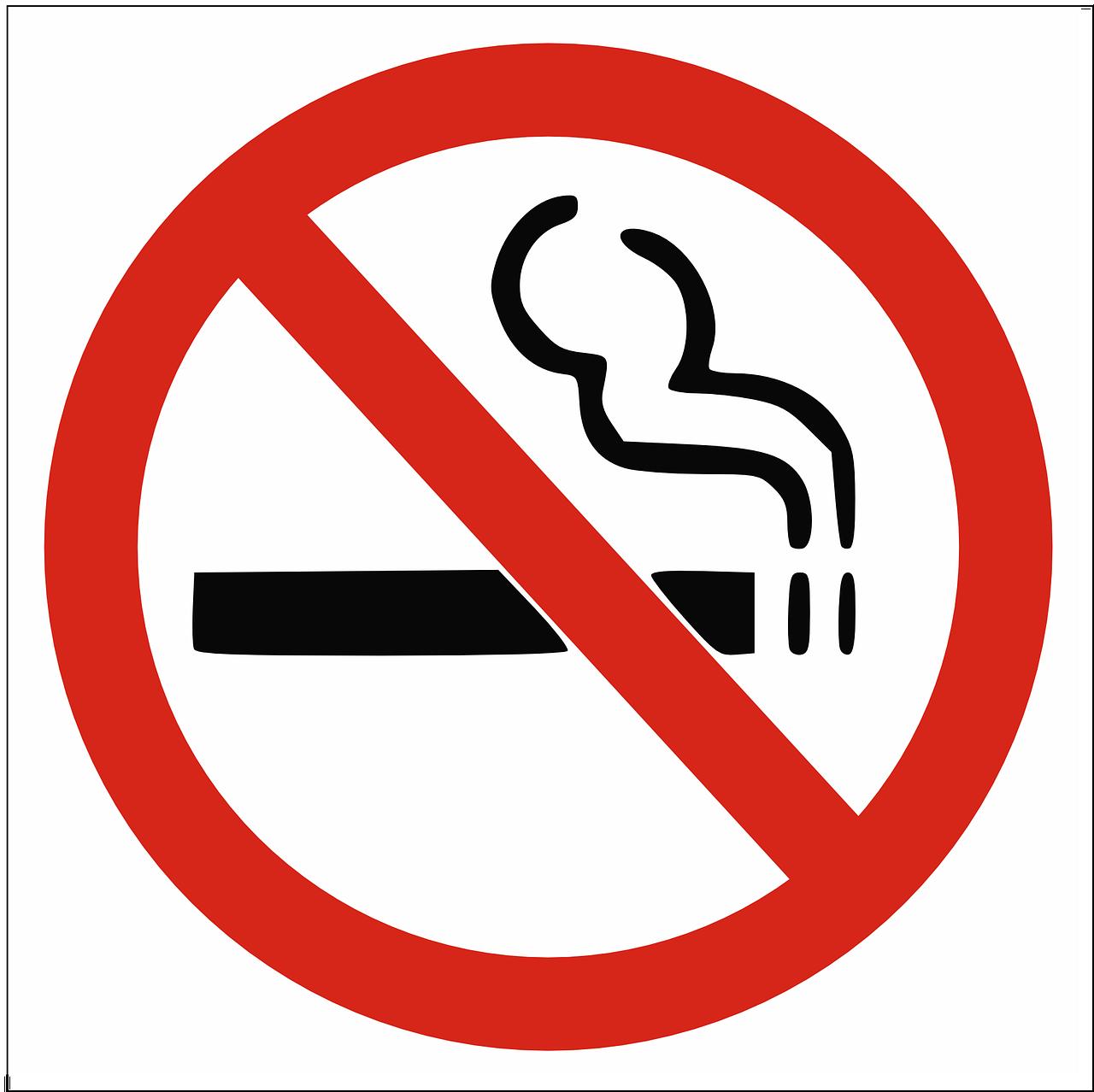 No Smoking, Logo, Symbols, Warning, Red, Black